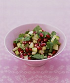 Cucumber and pomegranate seed salad with coriander