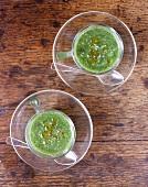 Herb millet soup