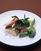 Salmon fillet with tarragon and mustard sauce