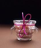 A jar of cranberry curd (UK)