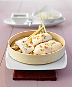 Steamed fish fillet with spicy sauce