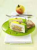 Apple and goats' cheese terrine