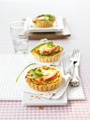 Tartlets with sping onions