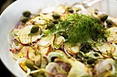 Apple-fennel salad with capers