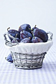 A basket of damsons