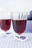 Plum juice in two glasses