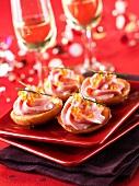 Artichoke hearts with taramas and caviar