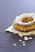 Paris Brest (choux pastry ring, France) with caramel cream