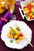 Gnocchi with cocktail tomatoes, mozzarella and parsley