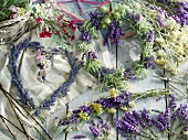 Various different lavender wreaths