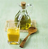 English mustard and olive oil