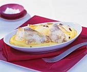 Palatschinken (pancakes) with vanilla cream