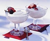 Vanilla quark garnished with berries