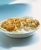 Cod and seafood cobbler