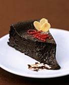 A piece of chilli chocolate cake