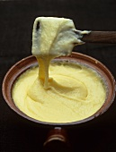 Aligot (Mashed potato with cheese and garlic, Auvergne, France)