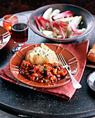 Chilli sin carne (vegetarian chilli) with a jacket potato