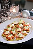 Blinis with smoked salmon and sour cream