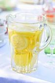 A jug of lemonade