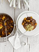 Lamb stew with quince and couscous