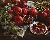 An arrangement of pomegranates