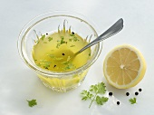 Sunflower oil vinaigrette with chervil and lemon juice