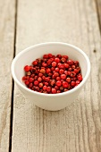A bowl of red peppercorns