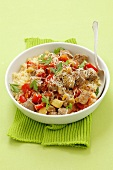 Pork with vegetables and couscous