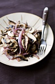 Pan-fried mushrooms and onions