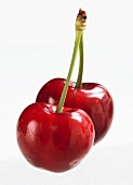 A pair of cherries (close-up)