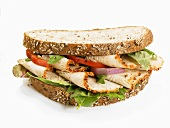 Chicken breast, onion & tomato sandwich (wholemeal bread)