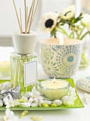 Scent diffuser and tea light (spring decorations)