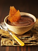 Chocolate mousse with chocolate brittle