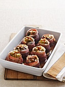 Bacon-wrapped figs with blue cheese