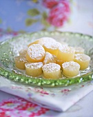 Home-made lemon sweets with icing sugar