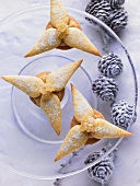 Ginger and marzipan stars