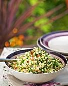 Bulgur salad with fresh herbs