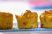Ham, cheese and red pepper muffins