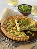 Bean and pea quiche