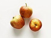 Three apples (variety: Gala)