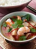 Tom Yam soup with prawns (Thailand)
