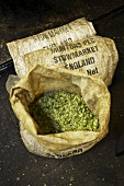 Hops in a sack