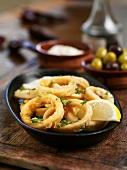 Fried squid rings (Spain)