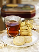 Tea and shortbread for Christmas (Scotland)