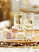 Turkish delight and liqueur as part of Christmas dinner