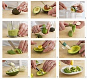 Avocado starters being prepared