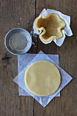 Pastry crust for tartlettes