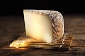 A slice of brebis, French sheep's cheese