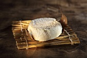 Mothais sur Feuille, French soft cheese made of raw goat's milk on a chestnut leaf