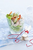 Shrimp salad in a glass